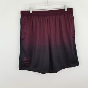 Under Armour Men's Burgundy Athletic Short Size XL
